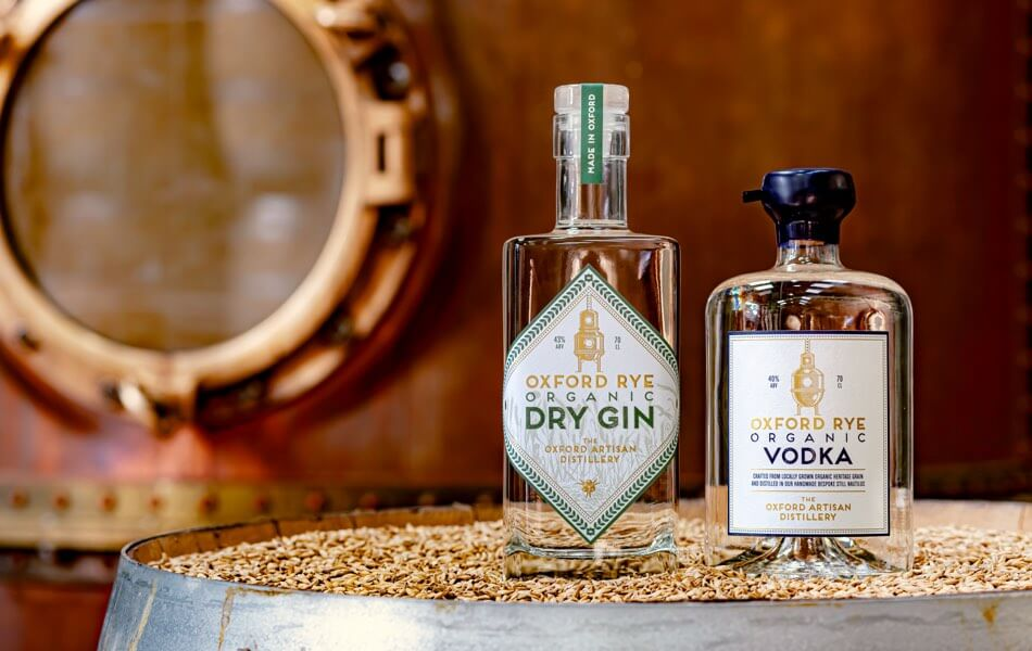 Our Oxford Rye Organic Dry Gin and Organic Vodka